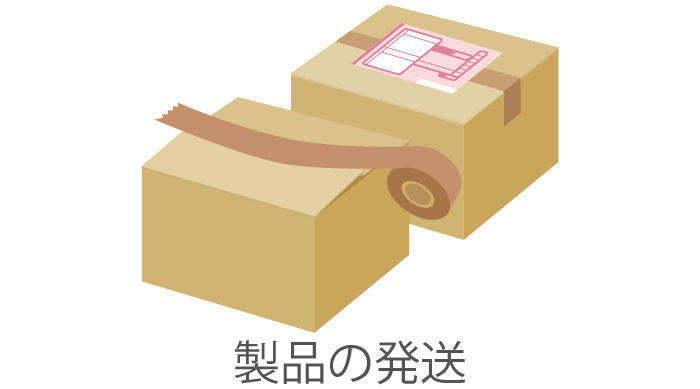 商品の梱包発送イメージ